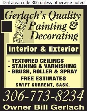 Gerlach's Quality Painting & Decorating - Painting Contractors Digital Ad