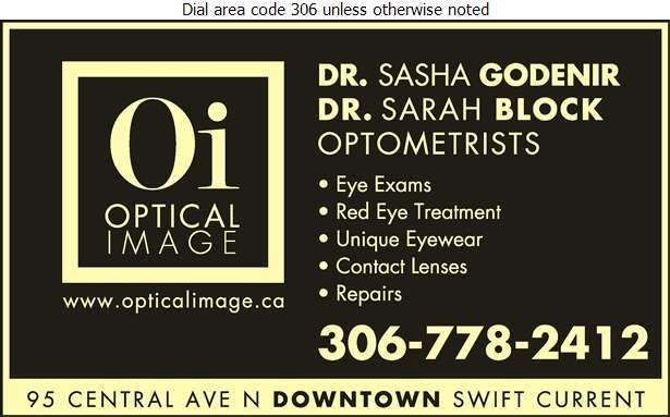 Optical Image - Optometrists Digital Ad