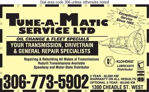 Tune-A-Matic Service Ltd - Transmissions Auto Digital Ad