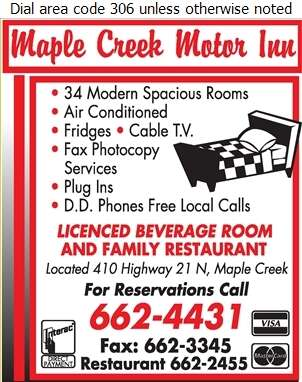 Maple Creek Motor Inn - Hotels Digital Ad