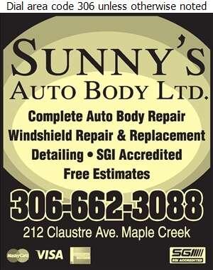 Sunny's Auto Body Ltd - Auto Body Repairing Digital Ad