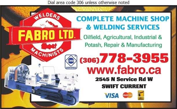 Fabro Ltd (Cory Schultz) - Machine Shops Digital Ad