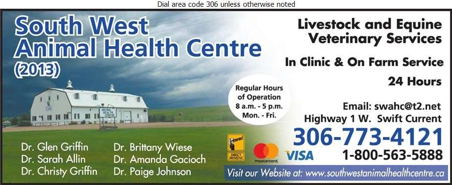 South West Animal Health Centre (2013) - Veterinarians Digital Ad