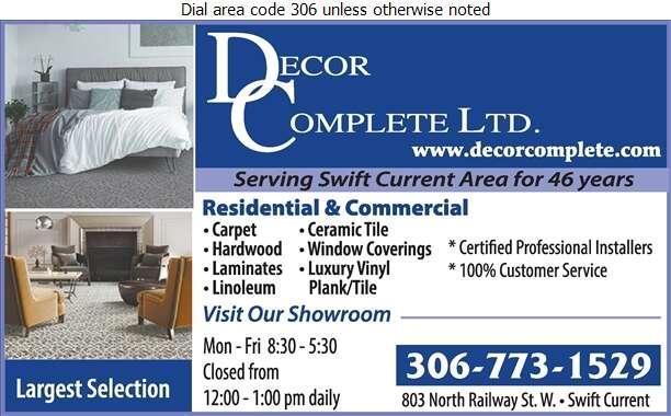 Decor Complete Ltd - Carpets & Rugs Retail Digital Ad