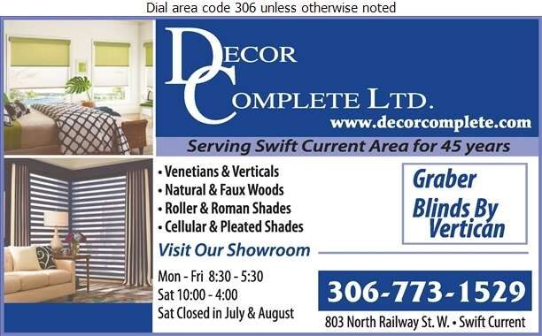 Decor Complete Ltd - Blinds Retail Digital Ad