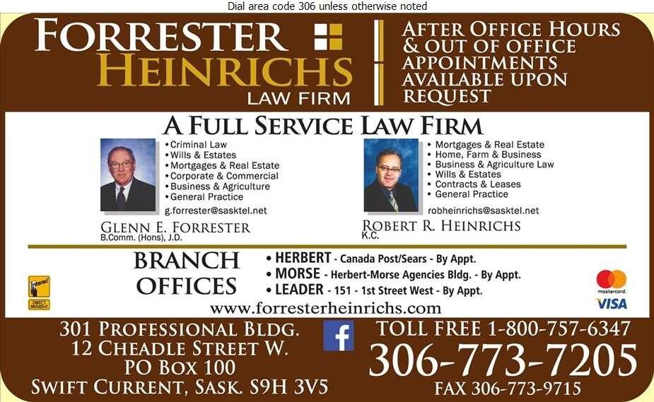Forrester Heinrichs (Fax) - Lawyers Digital Ad