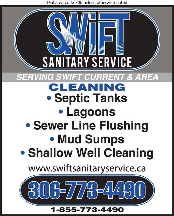 Swift Sanitary Service - Septic Tanks Sales & Service Digital Ad