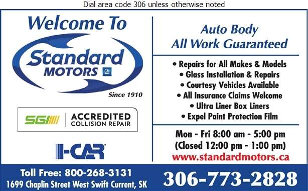 Standard Motors - Auto Body Repairing Digital Ad