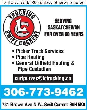 L & C Trucking Ltd - Oil & Gas Well Service Digital Ad