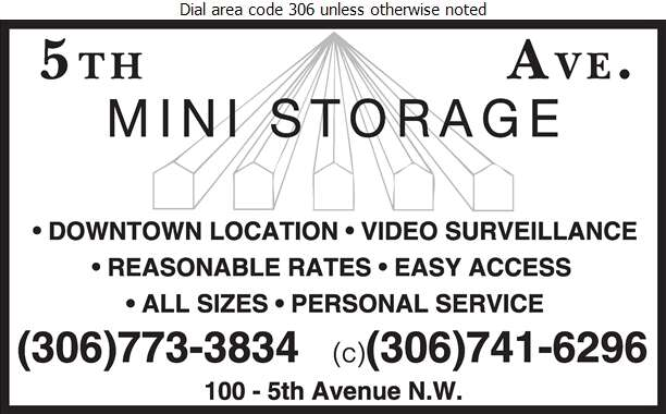 5th Ave Storage - Storage- Household & Commercial Digital Ad
