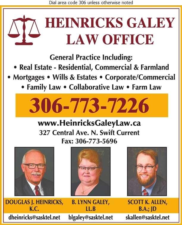 Heinricks Galey Law Office - Lawyers Digital Ad