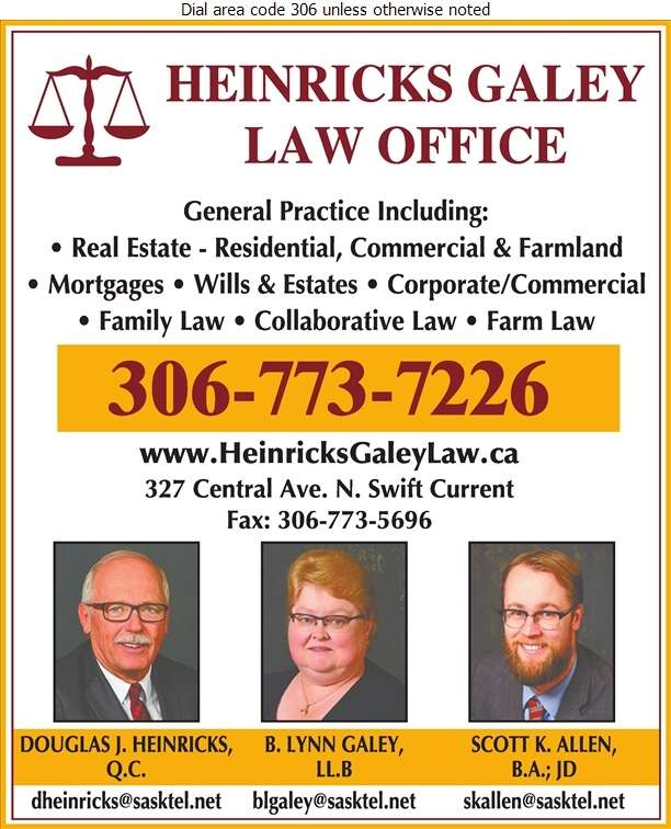 Heinricks Galey Law Office (Douglas J Heinricks Res) - Lawyers Digital Ad