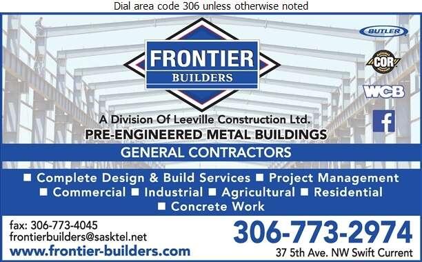 Frontier Builders - Contractors General Digital Ad