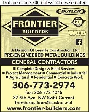 Frontier Builders - Builders & Contractors Digital Ad