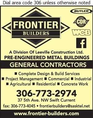 Frontier Builders - Concrete Contractors Digital Ad