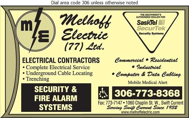 Melhoff Electric (77) Ltd - Electric Contractors Digital Ad