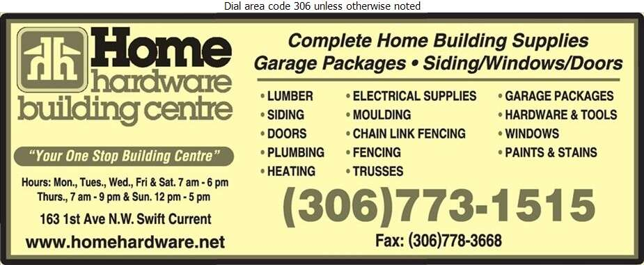 Home Hardware Building Centre - Lumber Retail Digital Ad