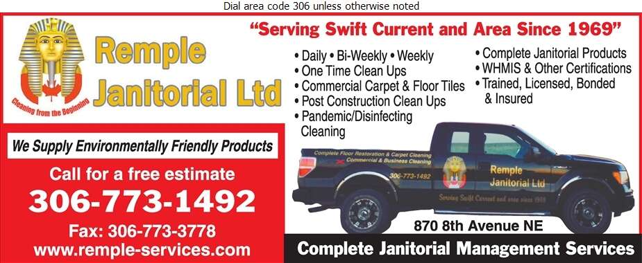 Remple Janitorial Services Ltd - Janitor Service Digital Ad