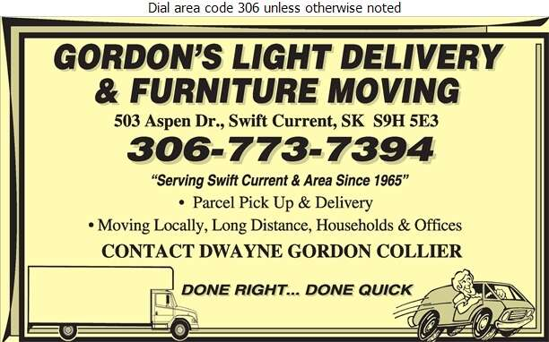 Gordon's Light Delivery & Moving - Movers Digital Ad