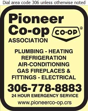 Pioneer Co-operative Association Ltd (Wheatland Mall Fax) - Plumbing Contractors Digital Ad