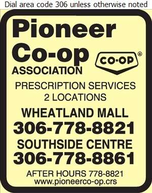Pioneer Co-operative Association Ltd (Wheatland Mall Fax) - Pharmacies Digital Ad