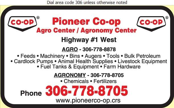 Pioneer Co-operative Association Ltd (Service Station 2 (Southside)) - Farm Supplies Digital Ad