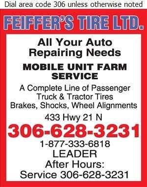 Feiffer's Tire Ltd - Auto Repairing Digital Ad