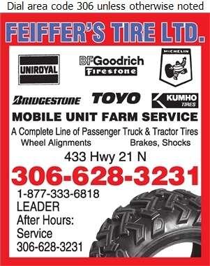 Feiffer's Tire Ltd - Tire Dealers Retail Digital Ad