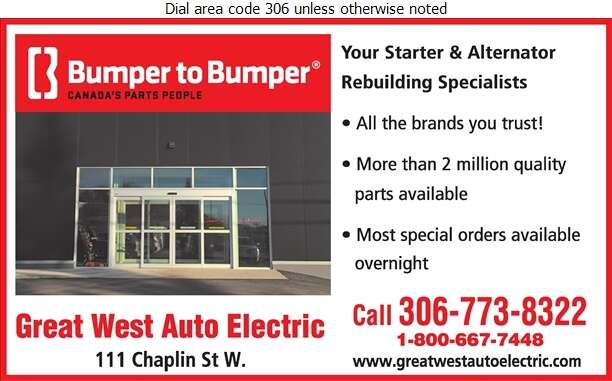 Great West Auto Electric Swift Current Ltd (After Hours) - Auto Parts & Supplies Retail Digital Ad