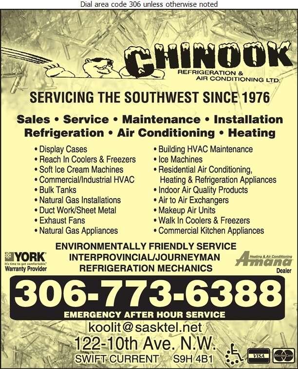 Chinook Refrigeration & Air Conditioning Ltd - Refrigeration Contractors Digital Ad