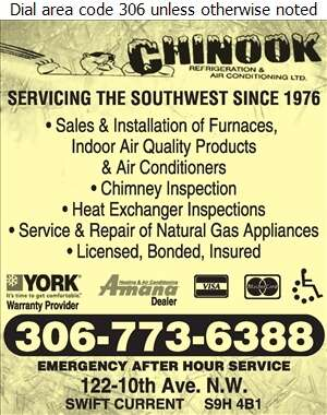 Chinook Refrigeration & Air Conditioning Ltd - Plumbing Contractors Digital Ad