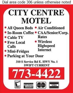 City Centre Motel - Motels Digital Ad
