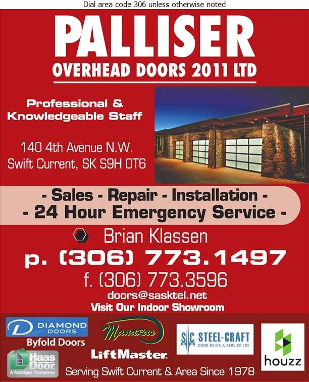 Palliser Overhead Doors Ltd - Doors Overhead Digital Ad