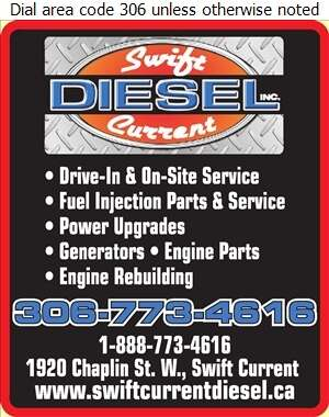Swift Current Diesel - Agricultural Implements Sales, Service & Parts Digital Ad