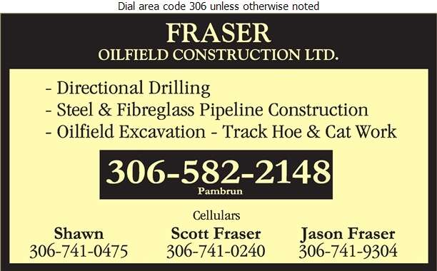 Fraser Oilfield Construction Ltd (Scott) - Oil & Gas Well Service Digital Ad