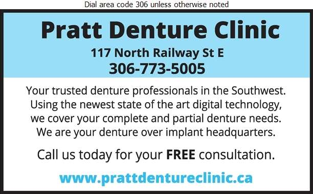 Pratt Denture Clinic - Denturists Digital Ad