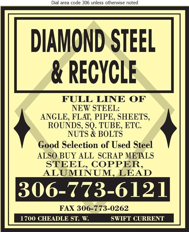 Diamond Steel & Recycle - Steel Digital Ad