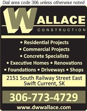 Wallace Construction Ltd - Contractors General Digital Ad