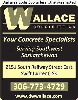 Wallace Construction Ltd - Concrete Contractors Digital Ad