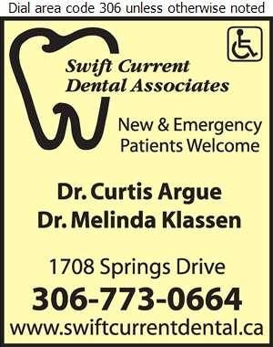 Swift Current Dental Associates - Dentists Digital Ad