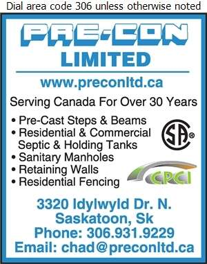 Pre-Con Ltd - Septic Tanks Sales & Service Digital Ad