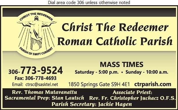 Christ The Redeemer Roman Catholic Parish - Church Organizations & Clergy Digital Ad