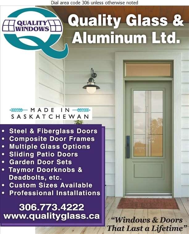 AA Quality Glass & Aluminum Ltd - Doors Household Sales & Service Digital Ad