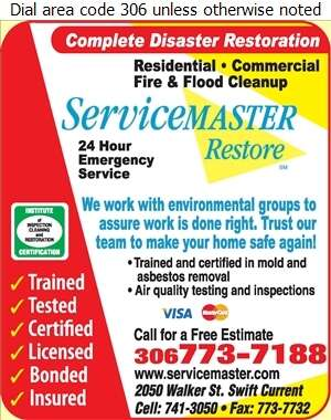 Servicemaster of Swift Current - Mold Removal Service Digital Ad