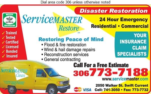 Servicemaster of Swift Current - Insurance Digital Ad