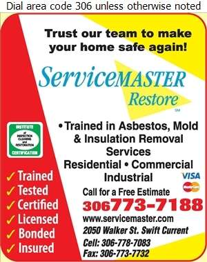 Servicemaster of Swift Current - Asbestos Removal Supplies & Services Digital Ad