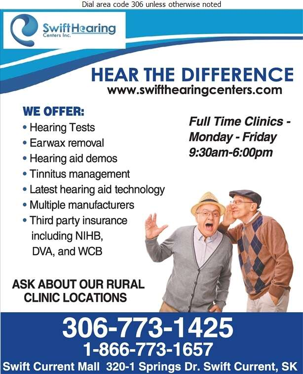 Swift Hearing Centers Inc - Hearing Assessment & Hearing Aids Digital Ad