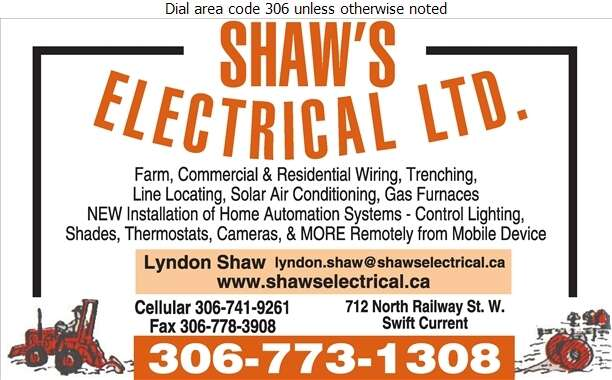 Shaw's Electrical Ltd - Electric Contractors Digital Ad