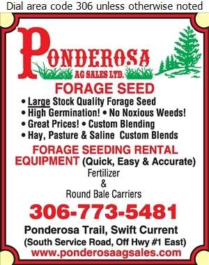 Ponderosa Ag Sales Ltd - Seed Pedigreed Digital Ad