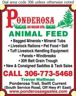 Ponderosa Ag Sales Ltd - Feeds, Livestock & Poultry Digital Ad